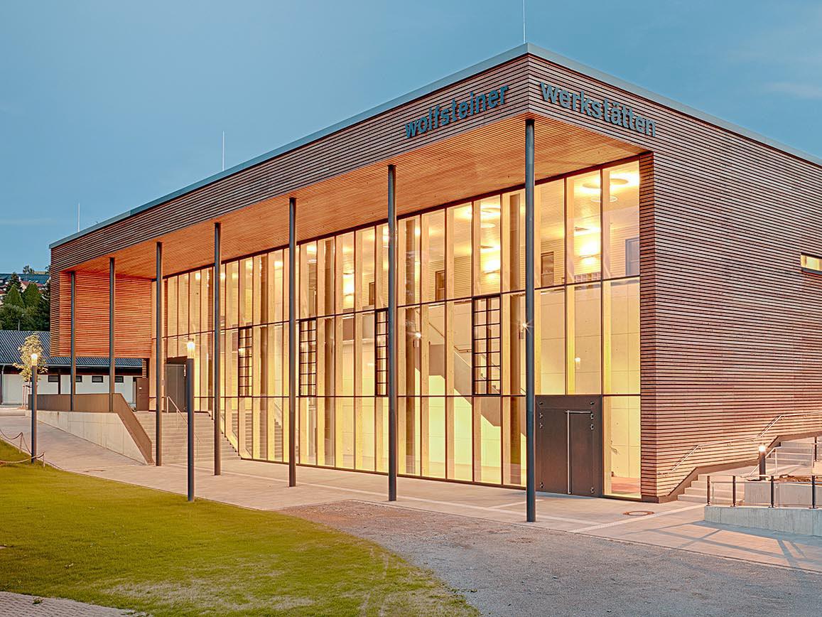 Wolfsteiner Werkstätten Freyung, Referenz Holzbau Eiler