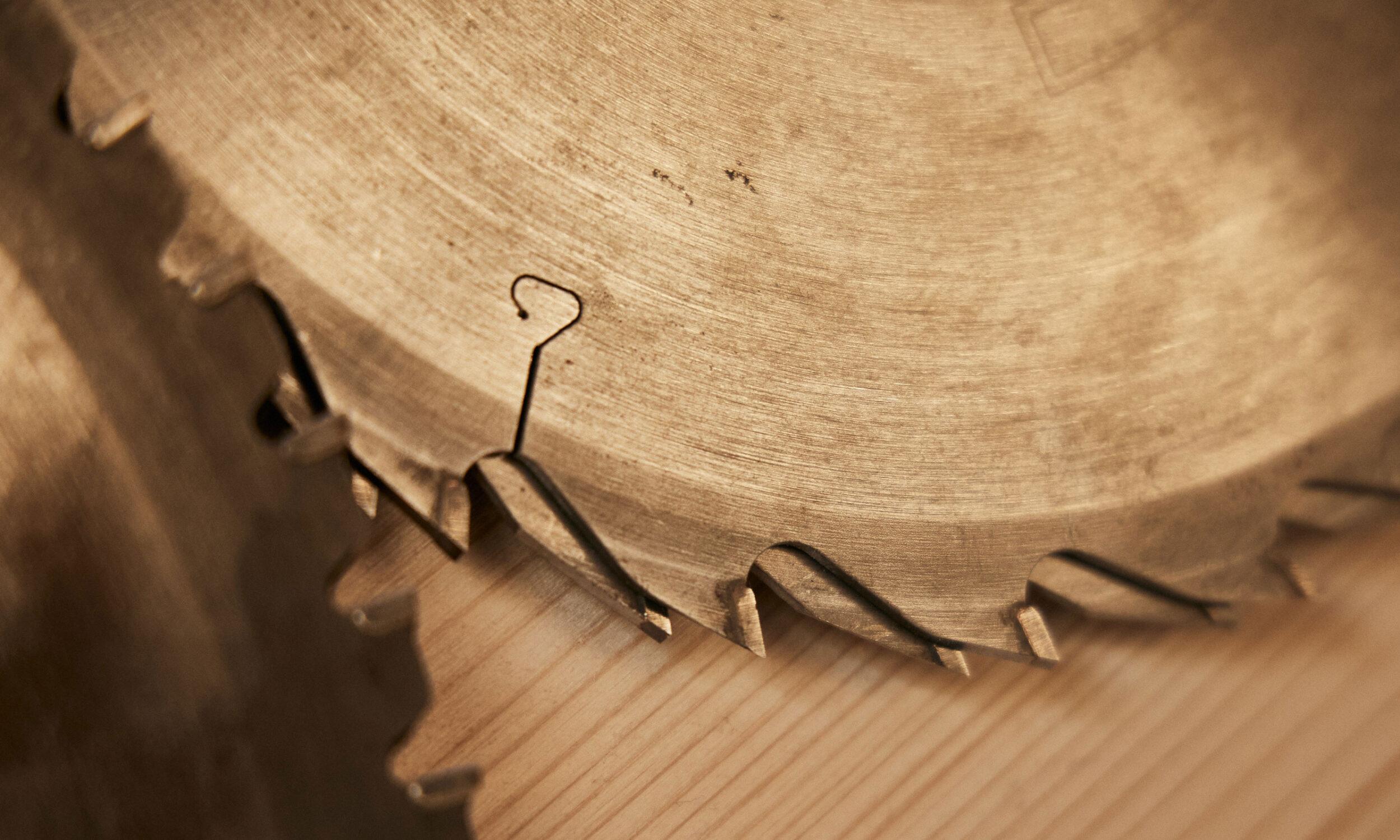 Stimmungsbild Sägeblatt Holzbau Eiler