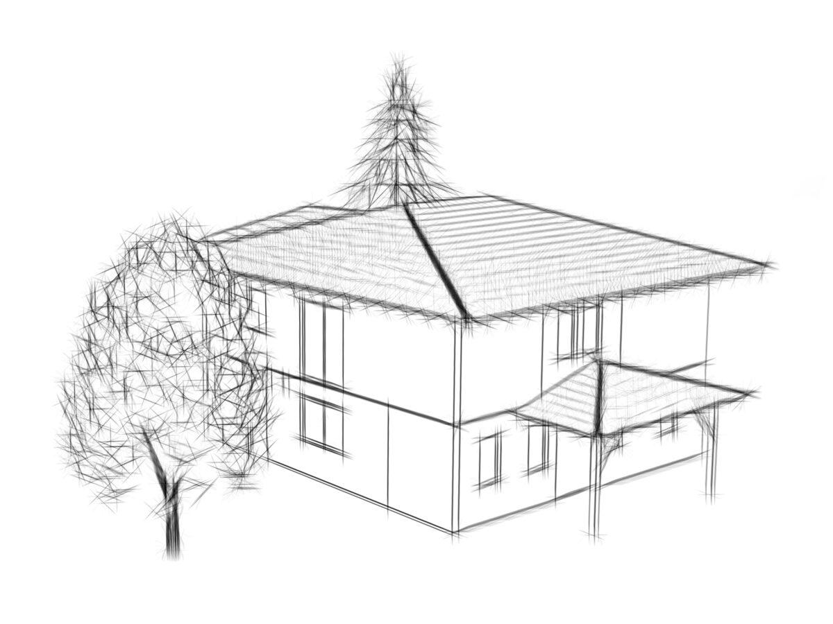 Eiler Holzbau Skizze Haus